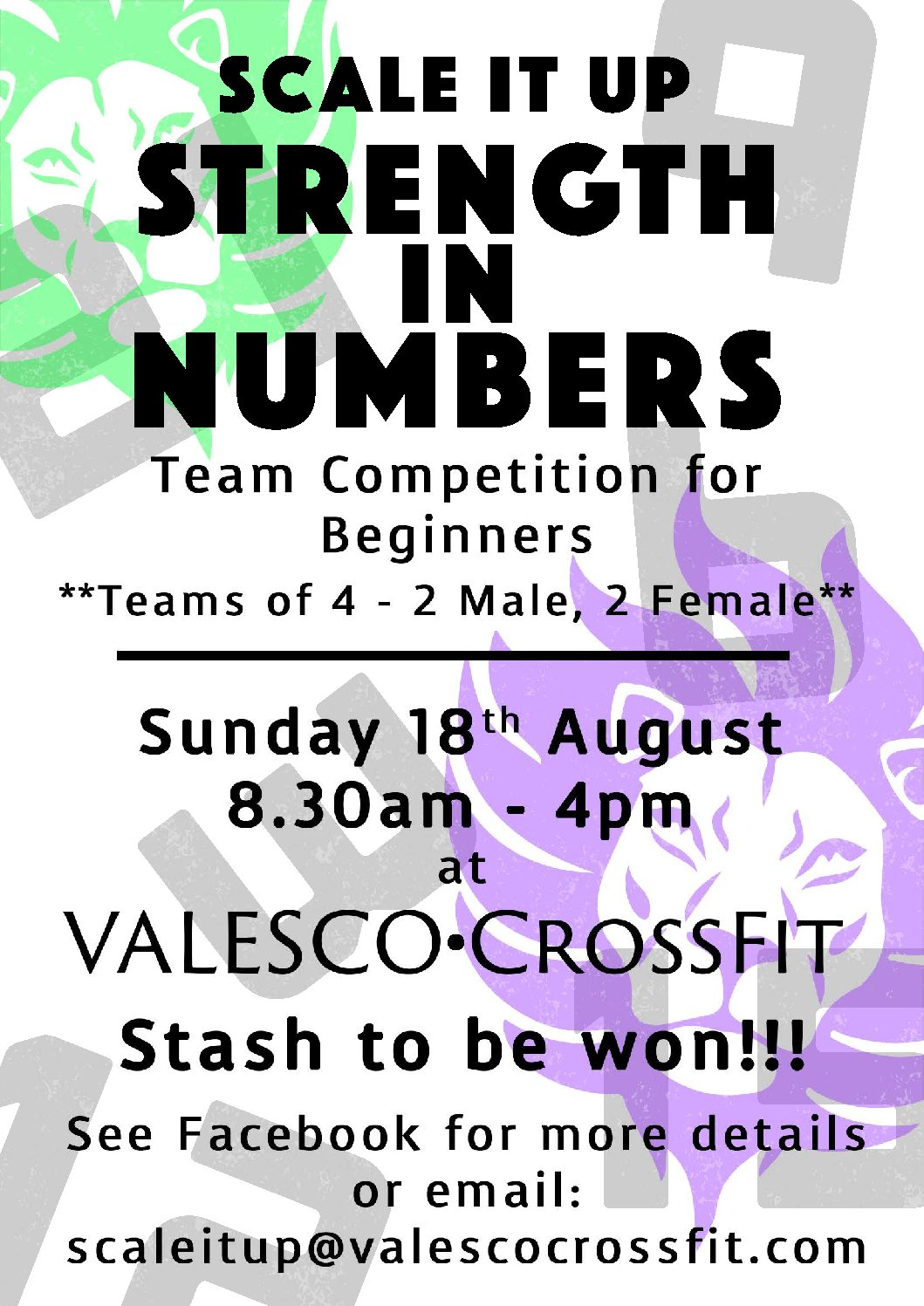 scale it up strength a4poster