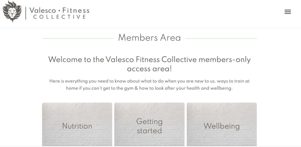 Members Area Website Screen Shot