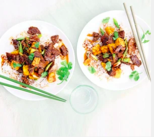 Pineapple and beef Stir-fry